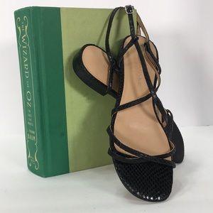Banana Republic 6 snakeskin emboss leather sandals